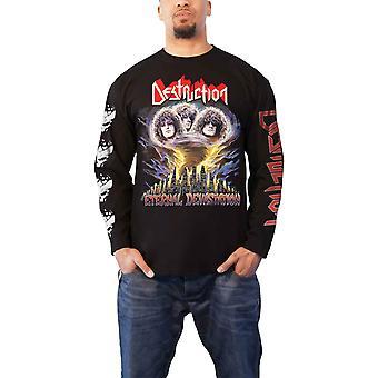 Destruction T Shirt Eternal Devastation Logo Official Mens Black Long Sleeve