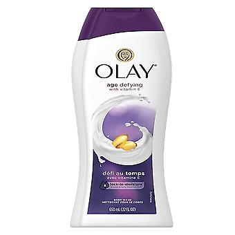 Olay age defying vitamin e body wash, unscented, 22 oz