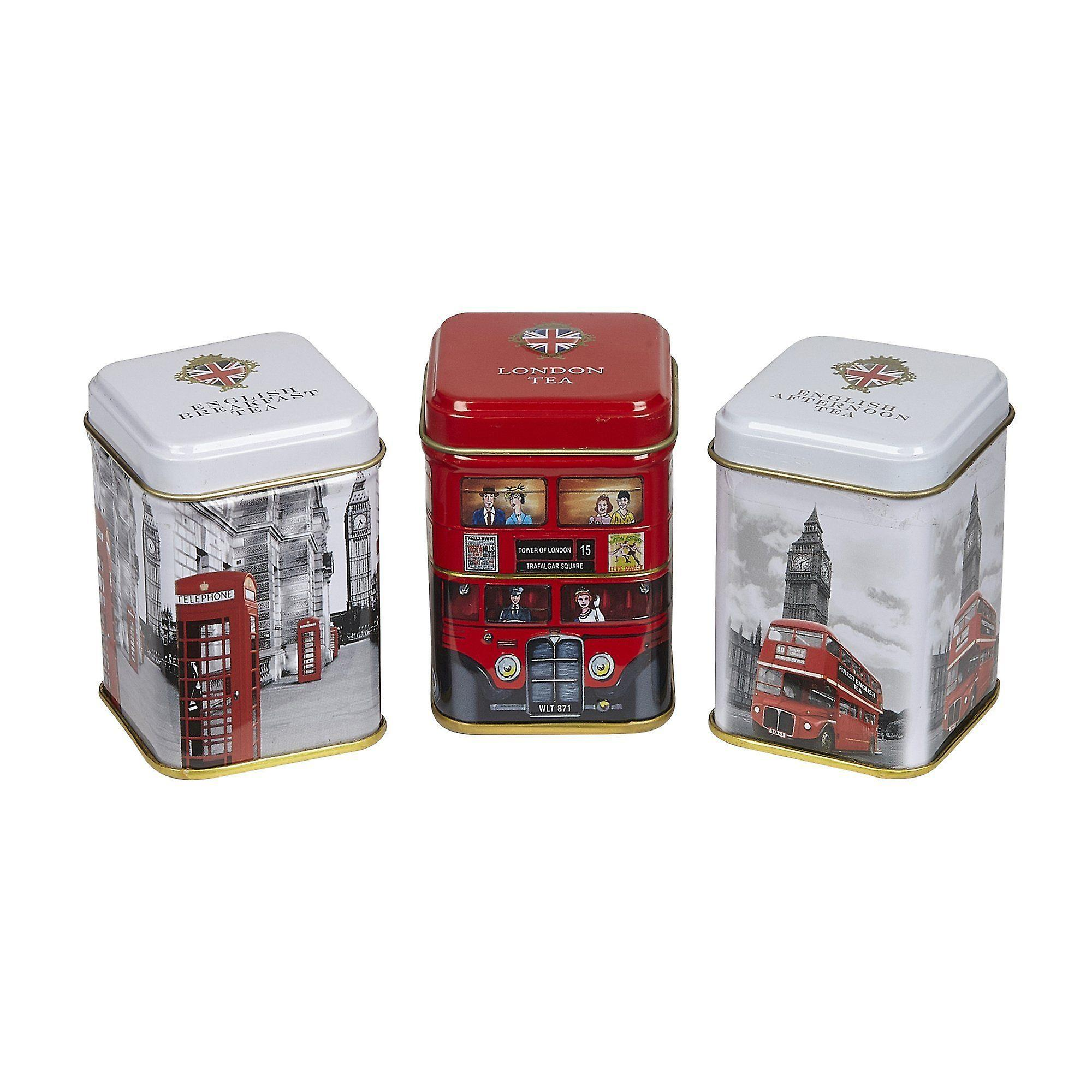 Iconic london triple english tea mini tin gift pack