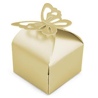 TRIXES 50 Pcs favor caixas nupcial do casamento chuveiros partes presentes decoração de mesa