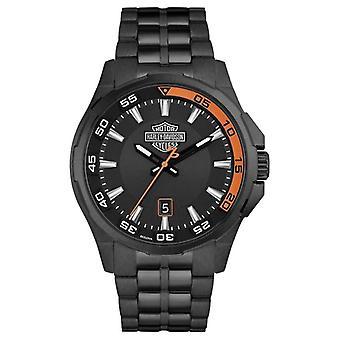 Harley Davidson Mens Dashboard | Black Dial | Black Stainless Steel Bracelet 78B141 Watch