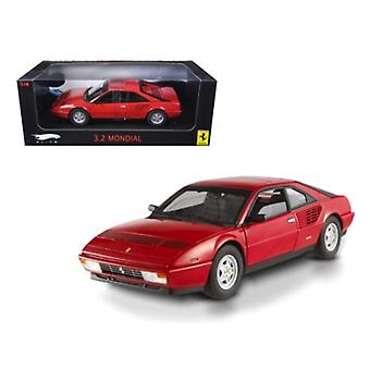 Ferrari 3.2 Mondial Red Elite Edition 1/18 Diecast Model Car by Hotwheels