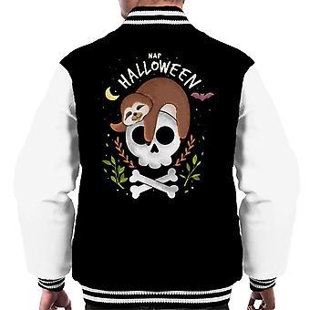 Nap Halloween Sloth Moon Men's Varsity Jacket