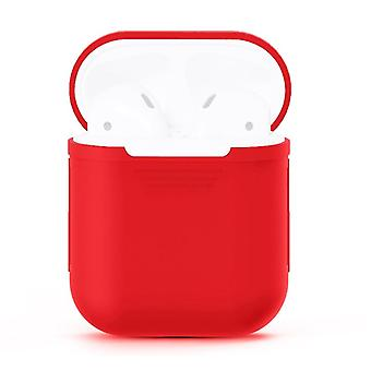 For Apple Airpods Storage Bag Red Silicone Protective Box
