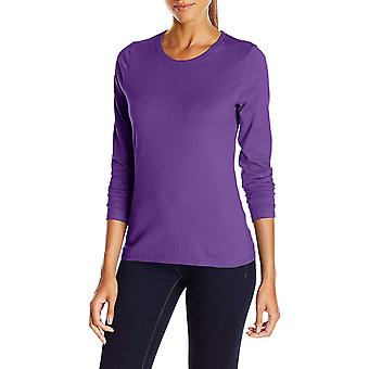 Hanes Women's Long Sleeve Tee, Violet Splendor,, Violet Splendor, Size Medium