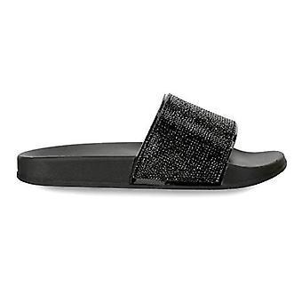 Olivia Miller 'Deltona' Multi Rhinestone Pool Slide Sandals