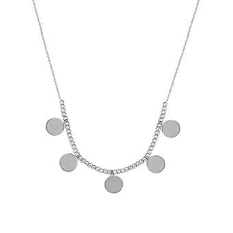 925 Sterling Silver Adjustable Sparkle Cut Beads and Disk Necklace Sparkle Cut Cable 18 Inch Jewelry Gifts for Women