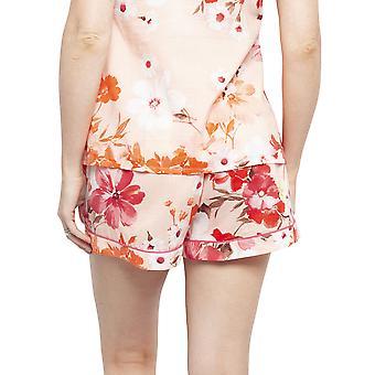 Cyberjammies 4427 Frauen's Darcie Coral Orange Floral Print Baumwolle Pyjama kurz