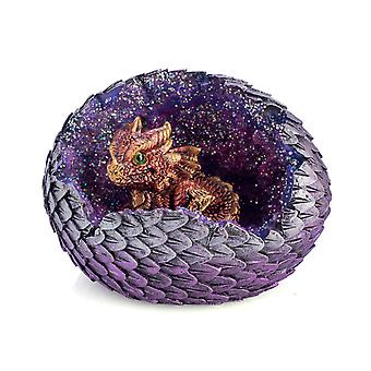 Red Baby Dragon in Crystal Egg