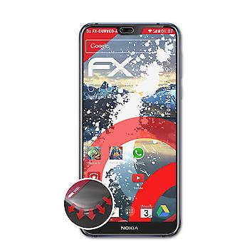 atFoliX 3x Protective Film compatible with Nokia 7.1 Plus Screen Protector clear&flexible
