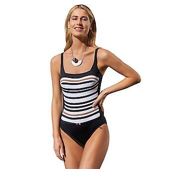 Opera 62062-901 Women's Golden Line Black and White Swimsuit