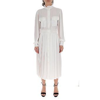 Alberta Ferretti 04211619a0002 Women's White Cotton Dress