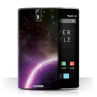 STUFF4 Case/Cover for OnePlus One/Purple Planet/Space/Cosmos