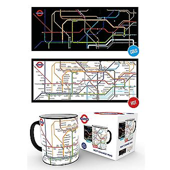 London Underground Map Heat Changing Mug