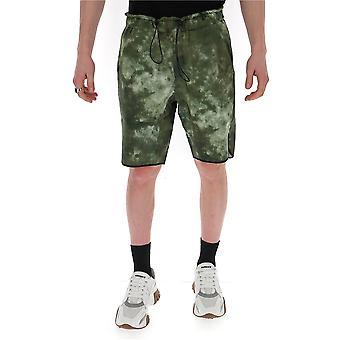 Corelate 213202457 Men's Green Cotton Shorts