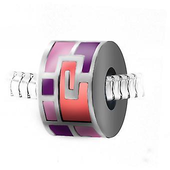 Rosa stål pärla charm från SC Crystal BEA0246-ROSE