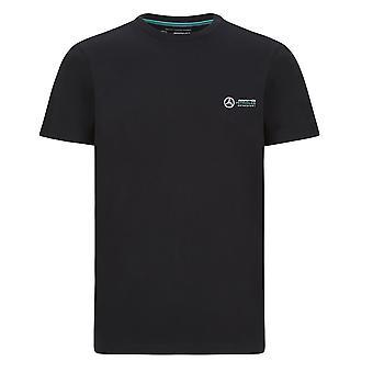 Mercedes AMG Petronas Men's Small Logo T-shirt   Black   2020