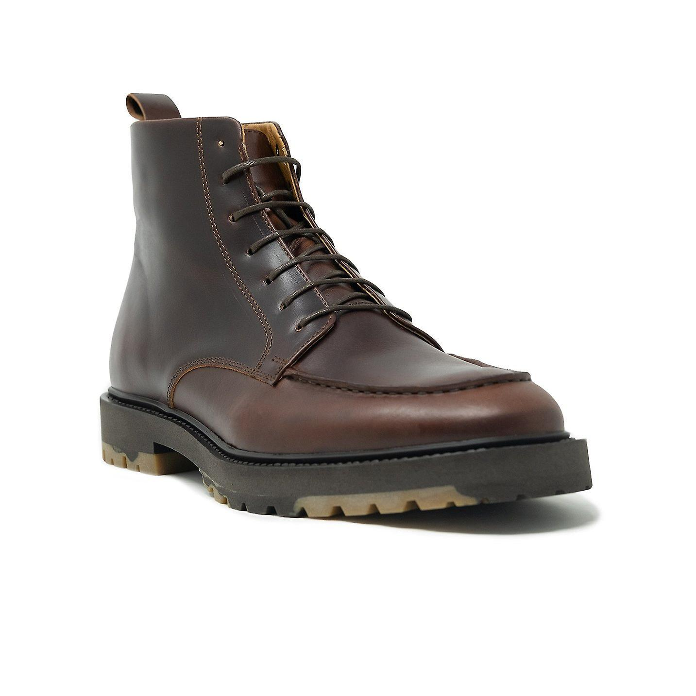 Walk london james apron boot in brown leather