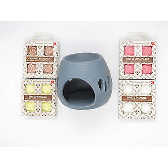 Pakke af Aroma lampe og 16 håndlavede miljøvenlige duft voks