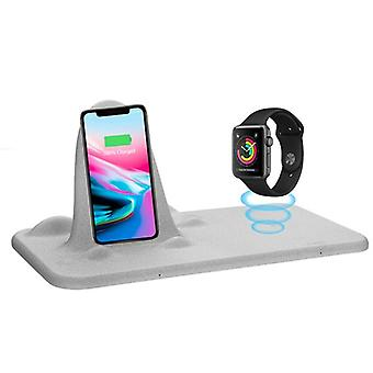 Multifunctional dual qi wireless charging pad for iphone 8 x plus watch 3