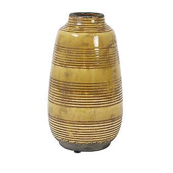Light & Living Vase Deco 15x26.5cm Batur Ceramics Ocher