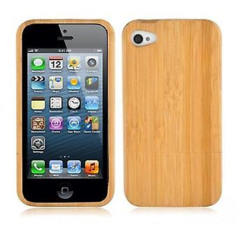 Cadorabo Case for Apple iPhone 5 / 5S / SE - CASE made of BAMBUS - phone case made of 100% real wood - Case Cover Protective Case Hard Case