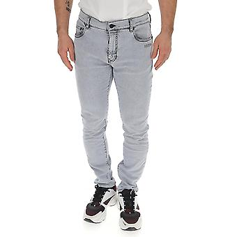 Off-white Omya074s20h42023b610 Men's Grey Cotton Jeans