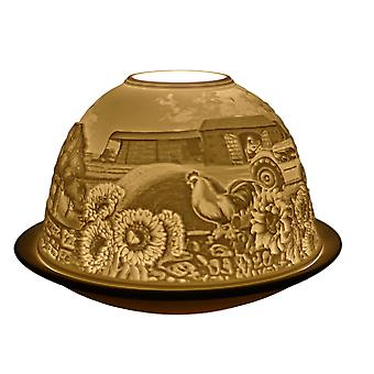 Light Glow Dome Tea Light Holder, Harvest