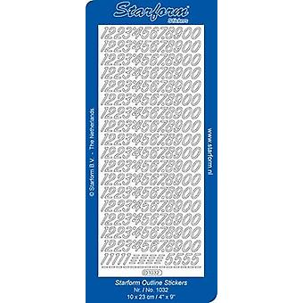 Starform Stickers Numbers 3 (10 Sheets) - Silver - 1032.002 - 10X23CM