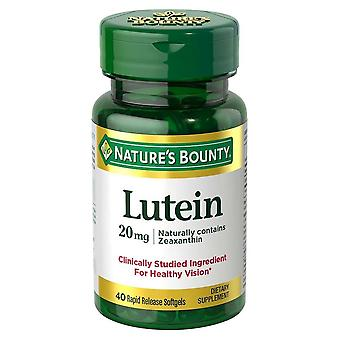 Nature's bounty lutein, 20 mgs, softgels, 40 ea