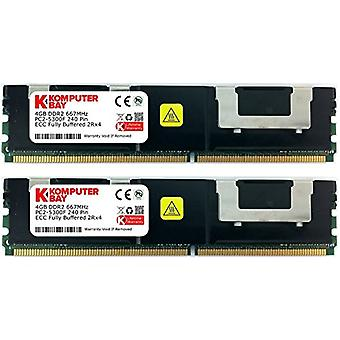 Komputerbay 8GB (2x 4GB) 240 Pin 667MHz DDR2 PC2-5300F CL5 ECC Fully Buffered FB-DIMM Memory Module