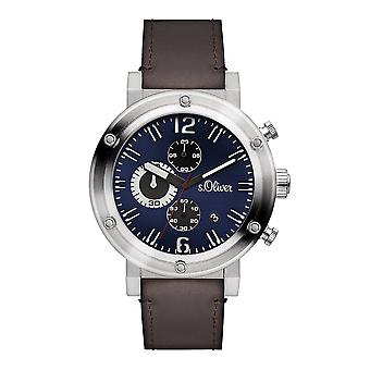 s.Oliver SO-15158-LCR Men's Watch Chronograph