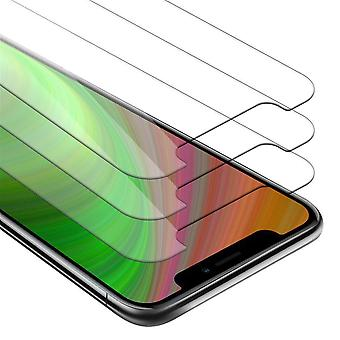 Cadorabo 3x Tank Foil for Apple iPhone XR - Protective Film in KRISTALL KLAR - 3 Pack Tempered Display Protective Glass in 9H Hardness with 3D Touch Compatibility