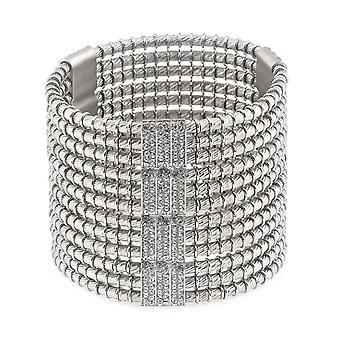 Giora' Jewels Broze Roman Empire Bracelet with Swarovski Crystal Rhodium