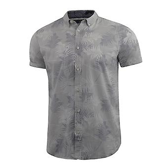 Mens floral shirt audley short sleeved cotton blend casual top