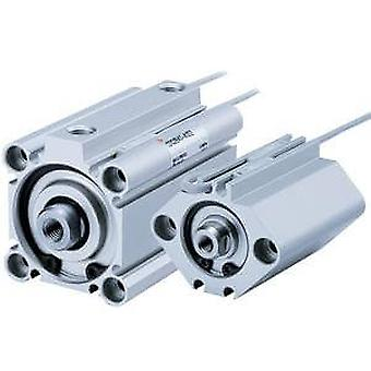 SMC Double Action Pneumatic Compact Cylinder 25Mm Bore, 10Mm Stroke