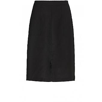 Masai Clothing Sara Black Linen Skirt