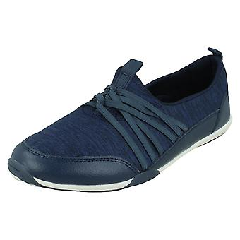 Ladies Down To Earth Flat Casual Pumps F80511