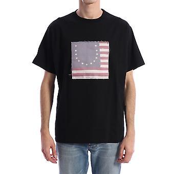 424 424mss20038blk Men's Black Cotton T-shirt