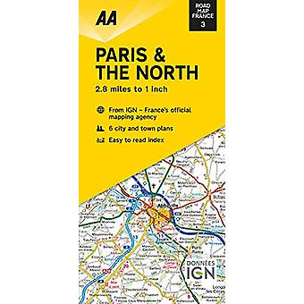 Road Map Paris & The North - 9780749582104 Book