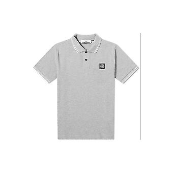 Stone Island Katoengrijze Polo Shirt