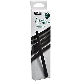 Pebeo Soft Charcoal Set of 6 (6-8mm)