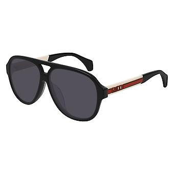 Gucci GG0463S 002 Black/Polarised Grey Sunglasses