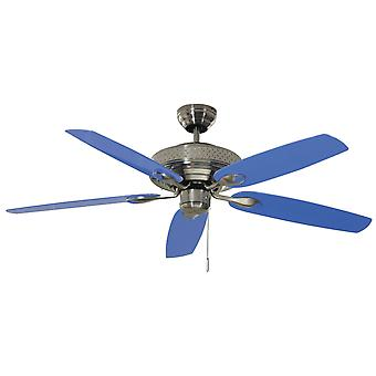 """Ceiling fan Blue Thunder with pull cord 132cm / 52"""""""