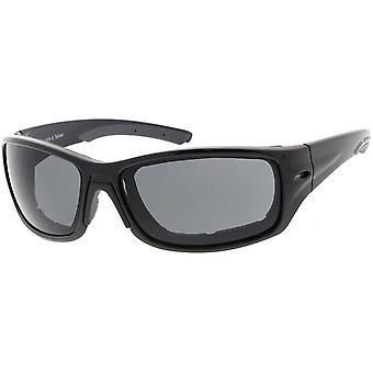 Schuim gevoerde TR-90 motorfiets bril rechthoek Lens 65mm