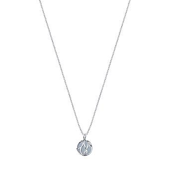 Angel Whisperer Paradise Sterling Silver Rhodium Plated Aquamarine Ball Necklace ERN-LILPARADISE-AQ