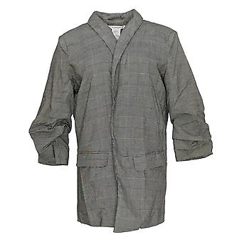 K Jordan Women's Suit Jacket / Blazer Plaid Gray / Black