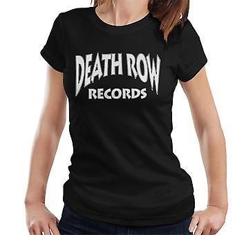 Death Row Records Logo Dames T-Shirt Wit