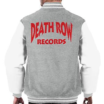 Death Row Records Logo rood mannen Varsity Jacket