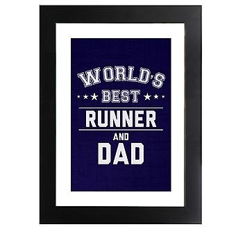 Worlds Best Runner And Dad Framed Print